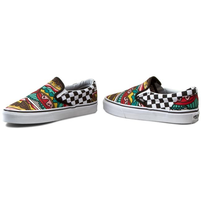 1d95ed5eb08 Гуменки VANS - Classic Slip-On VN0003Z4IRV Late Night  Burger Check ...