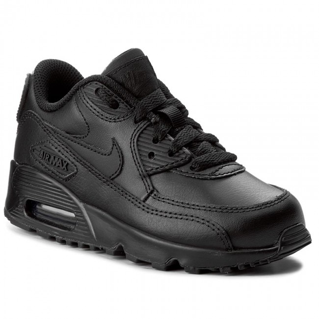 b5c08b21 Обувки NIKE - Air Max 90 Ltr (Ps) 833414 001 Black/Black - С връзки ...
