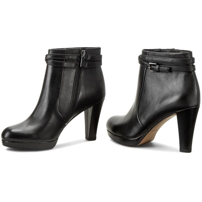 no sale tax where to buy buy online Боти CLARKS - Kendra Shell 261110224 Black Leather