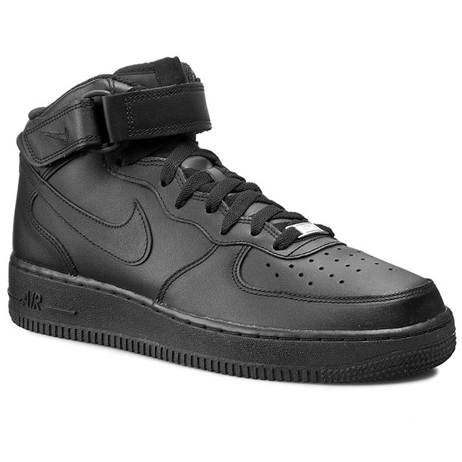9b4defb9662 Обувки NIKE - Air Force 1 Mid '07 315123 001 Black - Сникърси ...