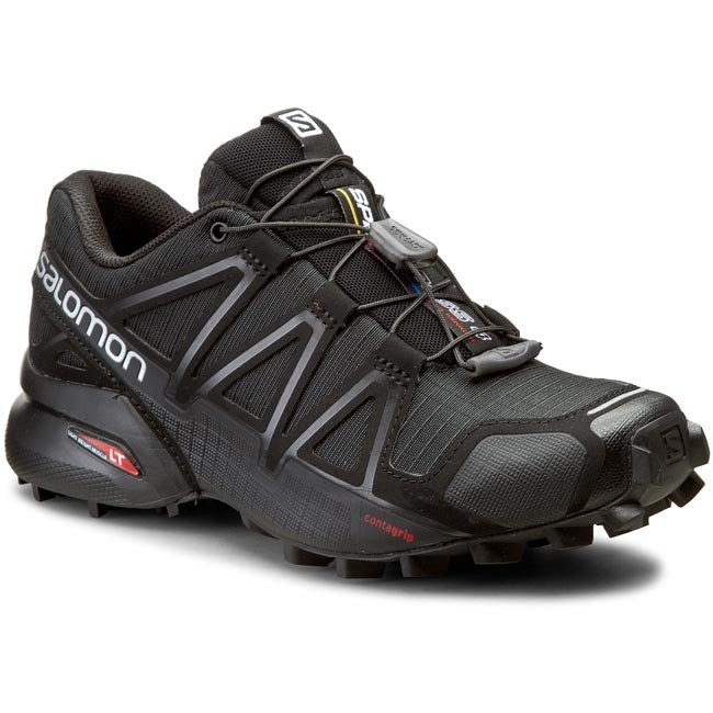 Обувки SALOMON - Speedcross 4 W 383097 20 V0 Black/Black/Black Metallic