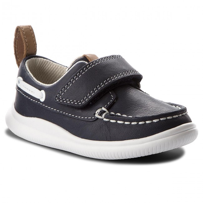 Мокасини CLARKS - Cloud Snap 261316886 Navy Leather
