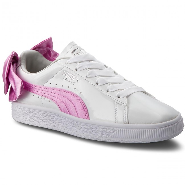 Сникърси PUMA - Basket Bow Patent Jr 367621 02 Puma White/Orchid/Gray