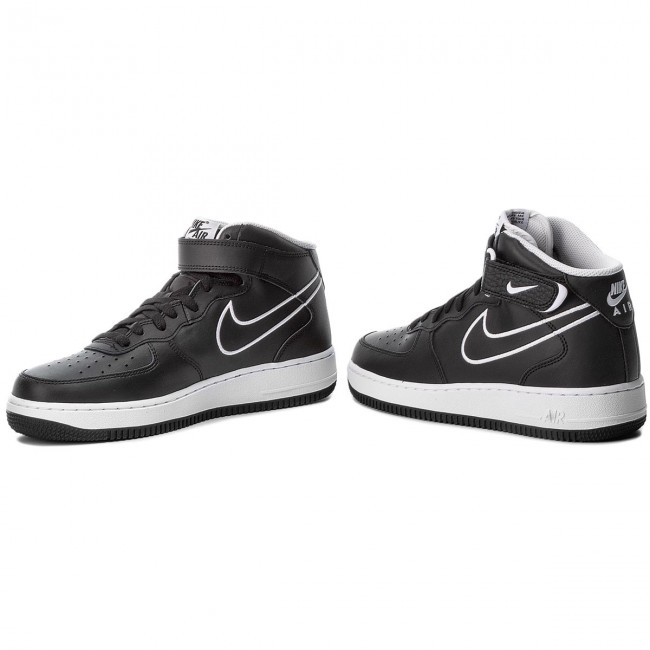 e02c2fbc8b9 Обувки NIKE - Air Force 1 Mid '07 Lthr AQ8650 001 Black/White ...