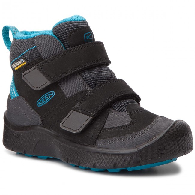 34a707565ce Обувки KEEN - Hikeport Mid Strap Wp 1017997 Black/Blue Jewel ...