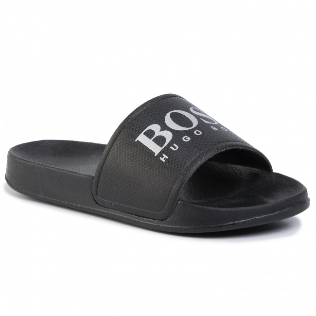 Чехли BOSS - Slides With Contrast J29F73/M90 M Black Charcoal