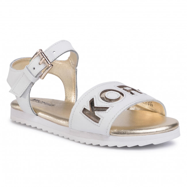Сандали MICHAEL MICHAEL KORS - Zia-Peek Sneak White/Soft Gold