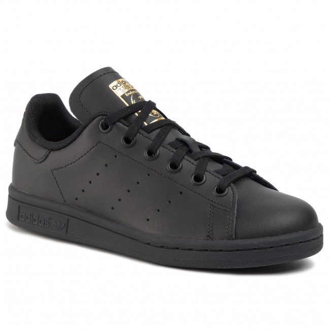 Обувки adidas - Stan Smith J EF4914 Cblack/Cblack/Goldmt