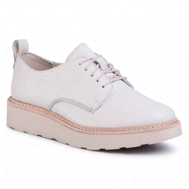 Оксфордки CLARKS - Trace Walk 261502234 White Leather