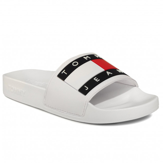 Чехли TOMMY JEANS - Flag Pool Slide EN0EN00474  White YBS