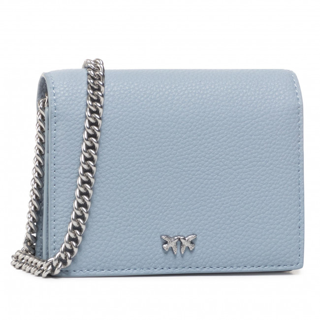 Дамска чанта PINKO - Jolie Simply 1 Credit Card C PE 20 PLTT 1P21LS Y65Z  Light Blue E81
