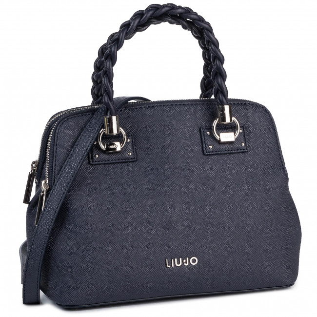 Дамска чанта LIU JO - S Satchel Double Zip N69141 E0087 Midnight 90013