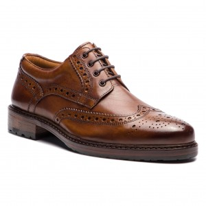 Обувки PEPE JEANS - Hackney Derby PMS10166 Brown 878 - Официални ... 2c2398de6ff3